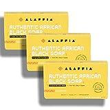 Alaffia - Authentic African Black Soap Triple Milled, Unscented set of 3