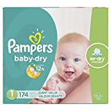 Diapers Size 1 / Newborn (8-14 lbs), 174 Count - Pampers Baby Dry Disposable Baby Diapers, Giant Pack (Packaging May Vary)