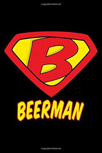 Beerman: Beer Tasting Journal 6x9 111 pages