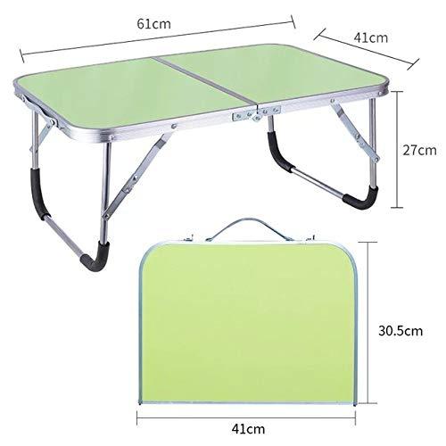 LJQLXJ Tables Pliantes Pliable Réglable Portable Ordinateur Portable Table Stand Ordinateur Lecture Bureau Lit Plateau pour Lit, Armée Vert