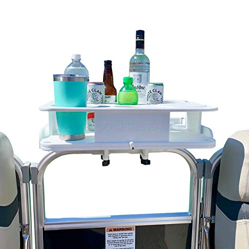 Docktail Bar Pontoon Boat Cup Holders Table Accessory - These Boating...