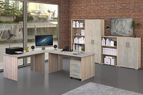 Büromöbel - Arbeitszimmer - Büro Möbel - Büroeinrichtung - Komplettset 8-Teilig