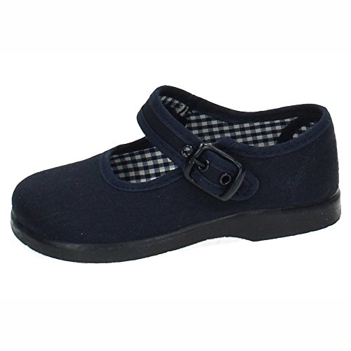 MADE IN SPAIN 951 Sneaker, Leinen, Blau, Mädchen, Blau - Marineblau - Größe: 21 EU