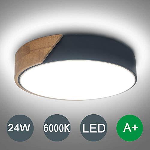 Kambo LED Lámpara de Techo LED Moderna Plafon Led de Techo 24W Plafón Techo Led Redondo Para Techo y Pared 2400LM 6000K Para Habitacion Cocina Sala de Estar Dormitorio Pasillo Comedor Balcón etc