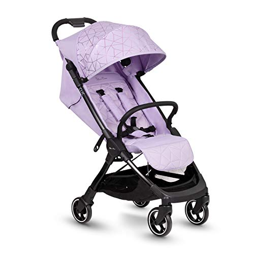 Silver Cross Clic stroller, compact and portable one-second fold baby to toddler pushchair - Lilac