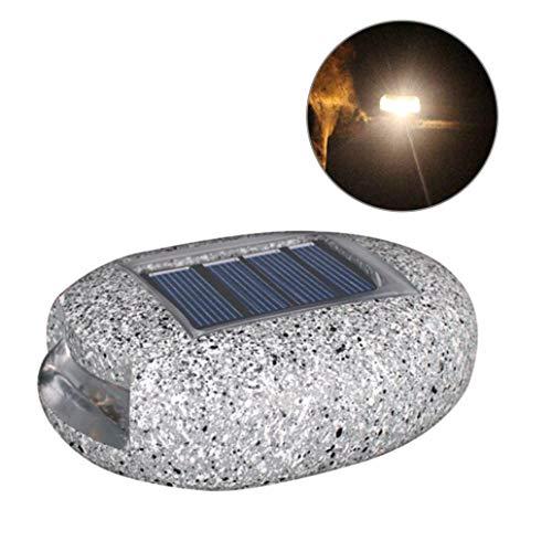 Wasserdichte LED-Solarleuchte in Steinform aus Kunstharz für den Außenbereich, Gartendekoration – warmes Licht