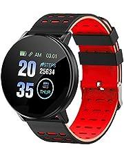 SZMYLED Smartwatch, sporthorloge, fitnesshorloge, stappenteller, horloge met hartslagmeter, slaapmonitor, activiteitentracker, IP67, stopwatch, alarm, zittende herinnering, meldingen enz.