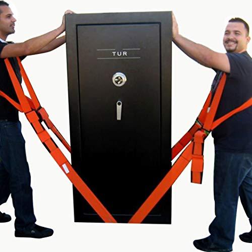 Heavy Duty Appliance Lifting Straps, 2-Person Lifter en Mover System met verstelbare banden, maximaal 800 Ponden