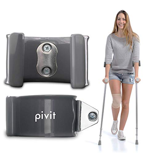 Pivit Forearm Crutch Replacement Cuffs (Pair) | Lightweight Arm Cuff Accessories for Crutches | Adjustable, Ergonomic, Heavy Duty for Standard and Tall Adults | Vinyl-Coated Contoured & Comfortable
