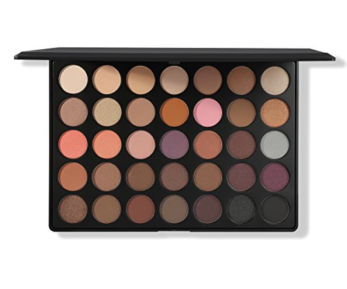 Morphe Pro 35 Color Eyeshadow Palette Warm 35W - Professional matte powder makeup palette with intense pigment