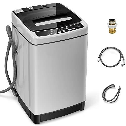 Giantex Full Automatic Washing Machine, 2 in 1 Portable...