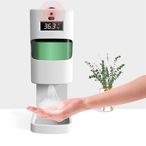 Double thermomètre corporel 2 en 1 sans contact avec distributeur de désinfectant pour les mains-capteur de distance sensible à la lumière-scanner de température mural+savon liquide automatique