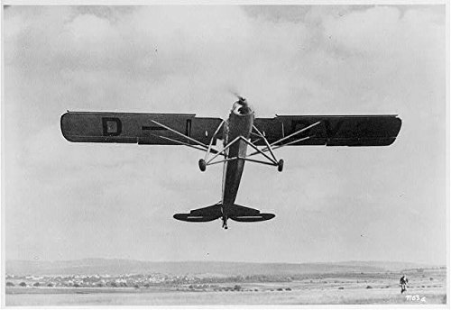 HistoricalFindings Photo: Fieseler Fi 156 'Storch' monoplane,c1936,Airplane,Propeller,Aviation