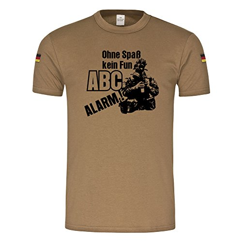 Bw Tropen Ohne Spaß kein Fun -ABC Alarm ! Bundeswehr Tropenshirt Grundausbildung Gasmaske Gummifotze Humor BIWAK Ausbilder Spruch T-Shirt