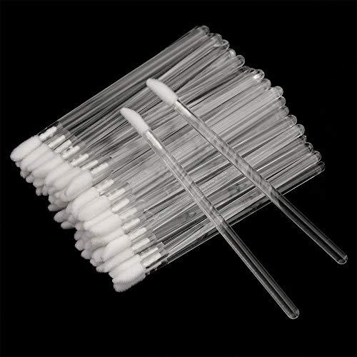 G2PLUS 100 Stück Einweg Lippenpinsel, Lippenstift Lip Gloss Pinsel Lippenapplikator, Kristall