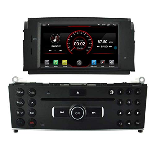 Android 10 Car DVD Player GPS Stereo Head Unit Navi Radio Multimedia WiFi para Mercedes Benz C Class W204 2007 2008 2009 2010 2011 Mercedes Benz C Class C180 C200 C220 Control del
