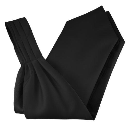 Great British Tie Club 100% Satin Ascot Cravates - Différentes Couleurs (Noir)
