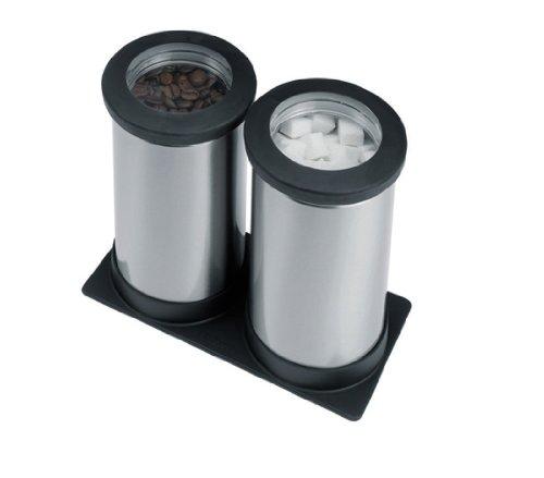 Brabantia 415647 Clear Top Set de 2 Boîtes Organiseur de Tiroir 0,7 Litre Matt Steel Fpp