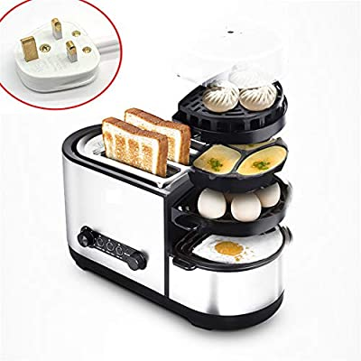 N / C Household Multifunctional Toaster, Heating Function, with Frying pan, Seven-Speed Adjustment, Non-Stick Frying pan, high Temperature and no Odor