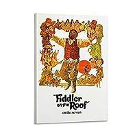 屋根の上の古典的な映画ポスターのバイオリン奏者 絵画 ポスター 印刷 ウォールアート リビング ダイニングルーム ベッドルーム 壁飾り 壁の絵12×18inch(30×45cm)