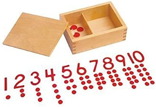 caliente Kid Advance Montessori Cut-Out Cut-Out Cut-Out Numeral and Counters by Kid Advance  descuento online