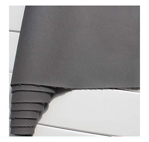 wangk Tejido de Piel sintética Tela de Polipiel para Tapizar Tela de Imitación de Ancho 137cm para Sofá Asiento de Coche Muebles Chaquetas Bolso Polipiel para Tapizar -Gris Oscuro 1.38x6m