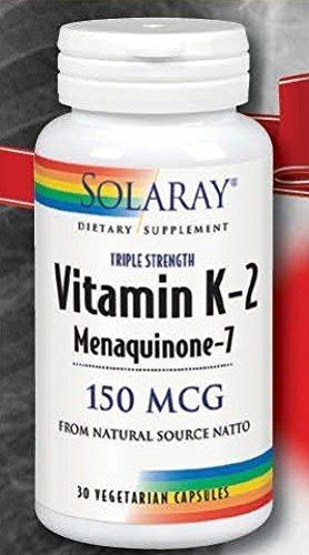 Vitamin K2 150 mcg Solaray 30 VCaps by Solaray