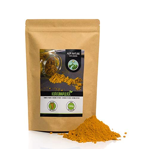 Turmeric Powder (1kg, 2.2 lb), Curcuma 100% Natural, Gently Dried and Ground Turmeric Root, No additives, Vegan