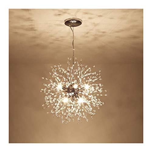 VELIHOME Lustres criativos, estilo nórdico, Lustres de cristal, Lustres modernos pendurados, Lustres modernos no hall de entrada, decoração de sala de estar