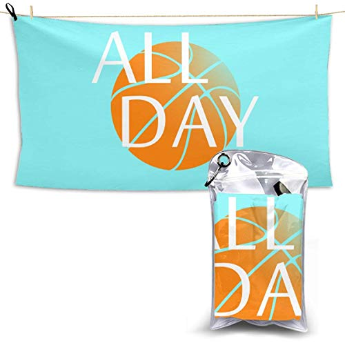 XCNGG Quick Dry Bath Towel, Absorbent Soft Beach Towels, All Day Basketball for Camping, Backpacking, Gym, Travelling, Swimming,Yoga 28.7'' X 51''