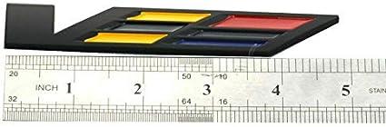 Black V Logo Emblem Fender Rear Side Rear Trunk For XLR SLS STS CTS SRX Black//Red//Yellow