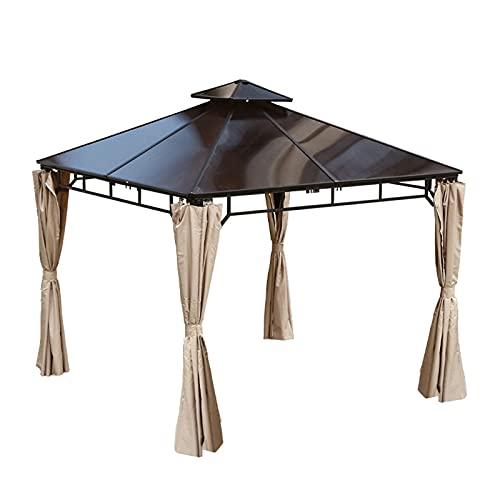 SJDC Gazebo 3x3 m Carpas Impermeables, Pergola Cenador Camping Cenadores, Protección UV, para Fiestas, Bodas, Camping, al Aire Libre, Blanco