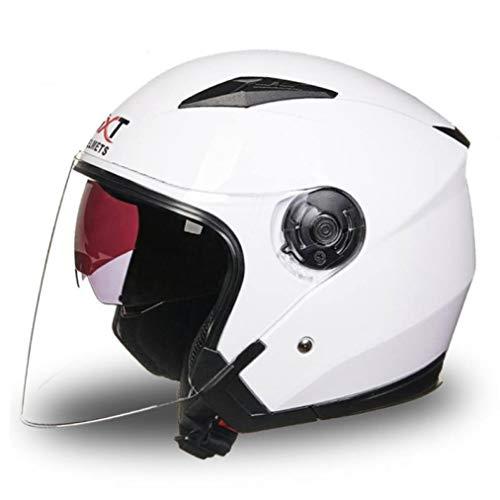 OLEEKA Double Lense Motorradhelm Integralhelm Sun Shield Leichtgewicht ABS Motorrad Touring Sports