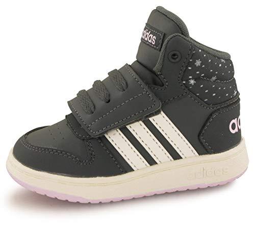 adidas Jungen Unisex-Kinder Hoops Mid 2.0 I Fitnessschuhe, Mehrfarbig (Grisei/Blanub/Aerorr 000), 24 EU