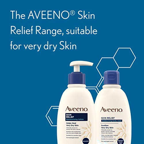 Aveeno Skin Relief Moisturising Lotion, Soothes Skin From Day 1, Body Lotion for Very Dry and Irritable Skin Care, 200 ml