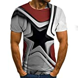 WJFGGXHK Camisetas para hombre con impresiones 3D, creativas y tridimensionales...