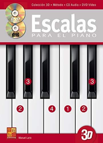 Escalas para el piano en 3D - 1 Libro + 1 CD + 1 DVD