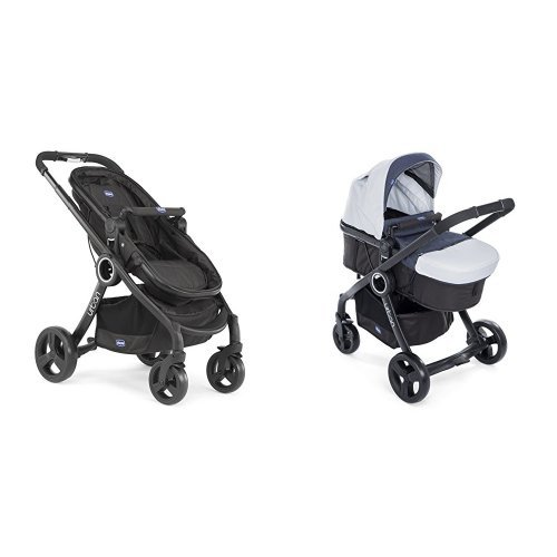 Chicco Urban plus -Carrito transformable en capazo y silla de paseo, color vaquero