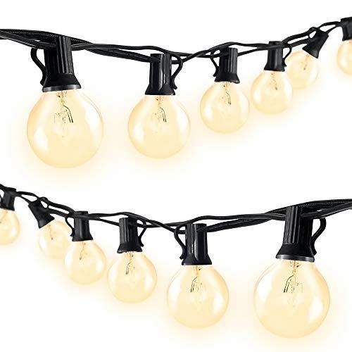 Redlemon Serie de Luces para Exterior con 25 Focos Vintage de Luz Cálida Resistentes al Agua y Lluvia (7.5 m). Guirnalda de Luz para Jardín, Terraza, Restaurante y Patio, Extensible a Varias Series