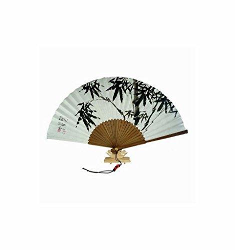Gross Papier Hand Fan Bamboo Design. Koreanische traditionelle Handwerk, Hanji Papier handbemalt
