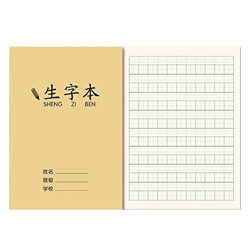 Pak van 20 oefenboeken voor Chinese karakters, milieuvriendelijke inktdruk, een perfect cadeau voor beginners, die Chinese lettertekens leren 13 * 18.8cm Sheng Zi Ben