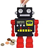 Piggy Bank, ONXE Digital Counting Coin Bank with Automatic LCD Display, Money Jar for Kids Adults Boys Girls as Gift on Christmas Birthday New Year's Day (Red)