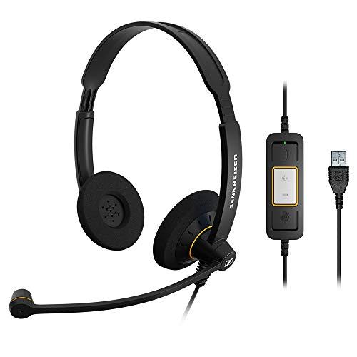 Sennheiser SC60 Headset (binaural/ beidseitig, USB, für MicrosoftLync) Schwarz, 504547