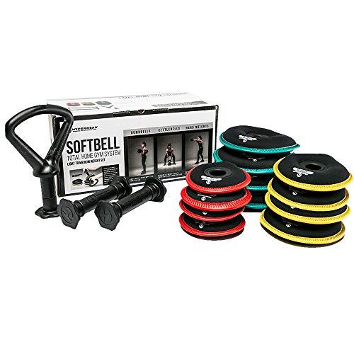 Hyperwear SoftBell Home Gym Dumbbell Kettlebell Combo Set Strength Training (Heavy Combo)