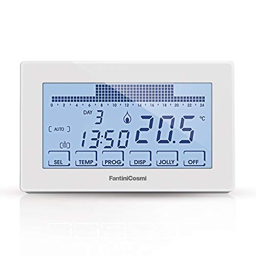 Fantini Cosmi CH180-230V Cronotermostato Touchscreen Retroilluminato, 230 V, Bianco