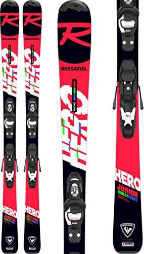 Rossignol Hero Jr 100-130 X Kid 4 G Esquís con fijación, Niños, Negro/Rojo, 110 cm