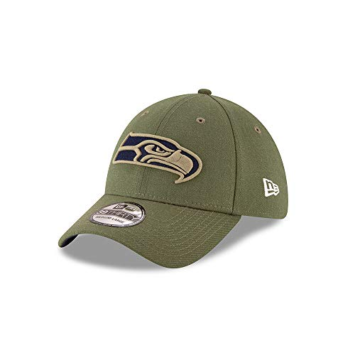 New Era Seattle Seahawks 39thirty Stretch Cap On Field 2018 Salute to Service Green - S-M