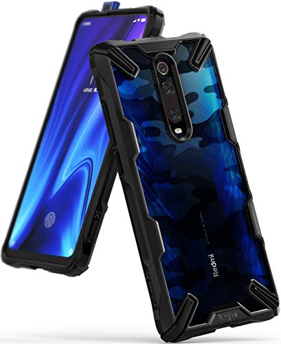 Ringke Fusion- X Diseñado para Funda Xiaomi Mi 9T,  Mi 9T Pro,  Redmi K20,  Redmi K20 Pro Protección Resistente Impactos Carcasa Xiaomi Mi 9T,  Funda para Xiaomi Mi 9T Pro (2019) -  Camo Black