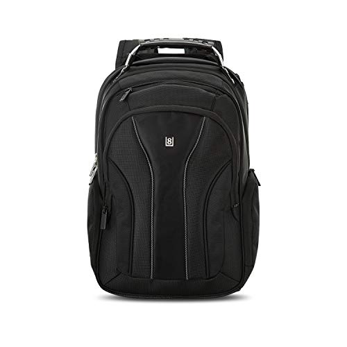 Save %30 Now! LEVEL8 Laptop Backpack Bussiness Travel Computer Bag Fits 15.6 Inch Laptop (Black)