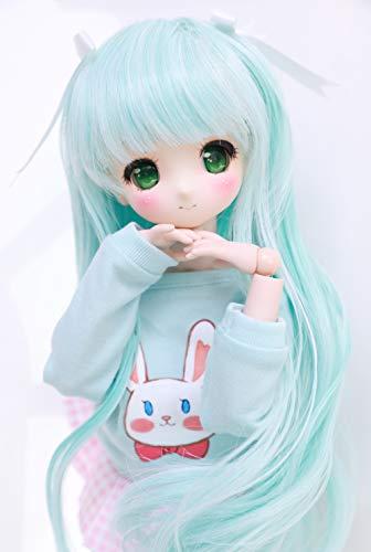 Wigs Only 8-9 inch 1/3 BJD Wig Doll Hair SD DZ DD DOD Wig (Light Blue)